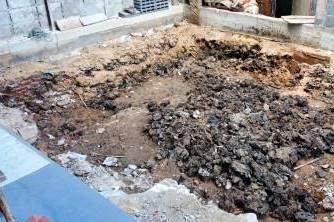 พื้นที่ก่อนถมหน้าดิน  เป็นพื้นที่เดิมที่เป็นห้องน้ำเก่า