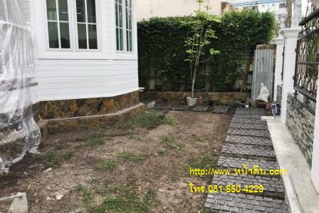 งานถมหน้าดิน เตรียมพื้นที่ไว้ปลูกหญ้า ส่วนของหน้าบ้านซอนลาดพร้าววังหิน32